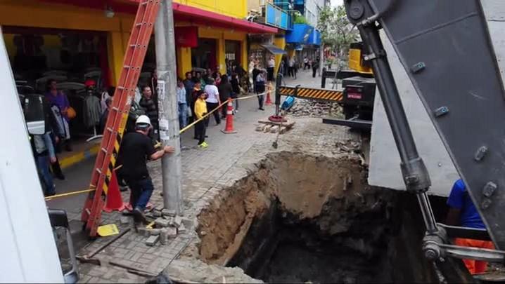 Obras dificultam o trânsito no Centro de Joinville