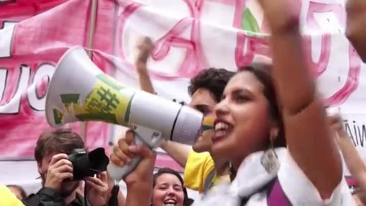 Protesto contra o impeachment em São Paulo