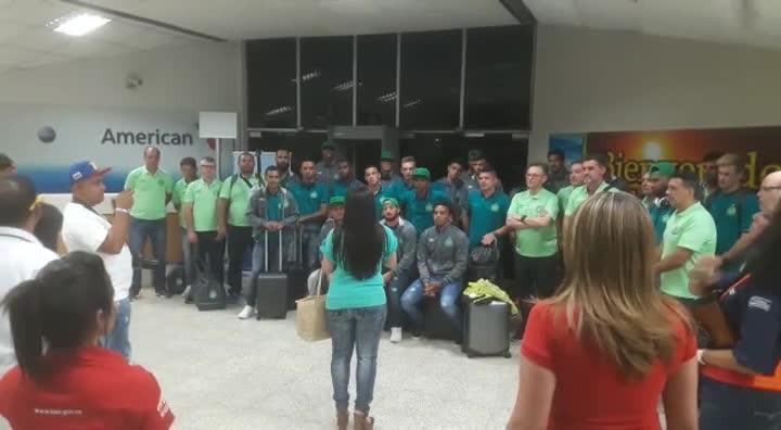 Chegada da Chapecoense na Venezuela