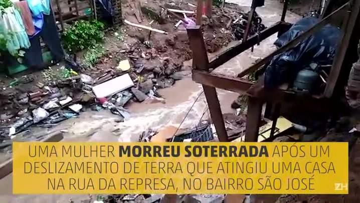 Temporal deixa uma pessoa desaparecida em Porto Alegre