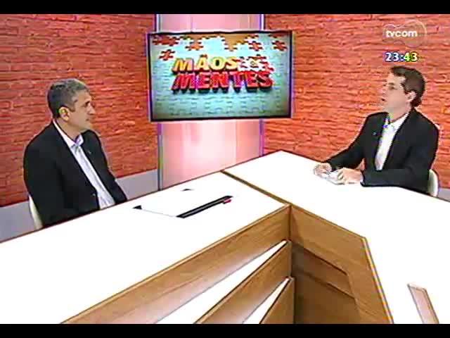 Mãos e Mentes - Cel. Kleber Senisse, coordenador da Câmara Temática de Segurança da Copa do Mundo em Porto Alegre - Bloco 3 - 06/11/2013