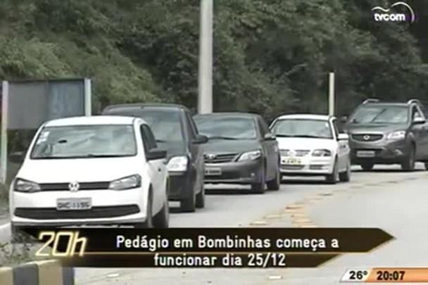 TVCOM 20h - Pedágio na entrada de Bombinhas começa a funcionar no dia 20 -10.12.14