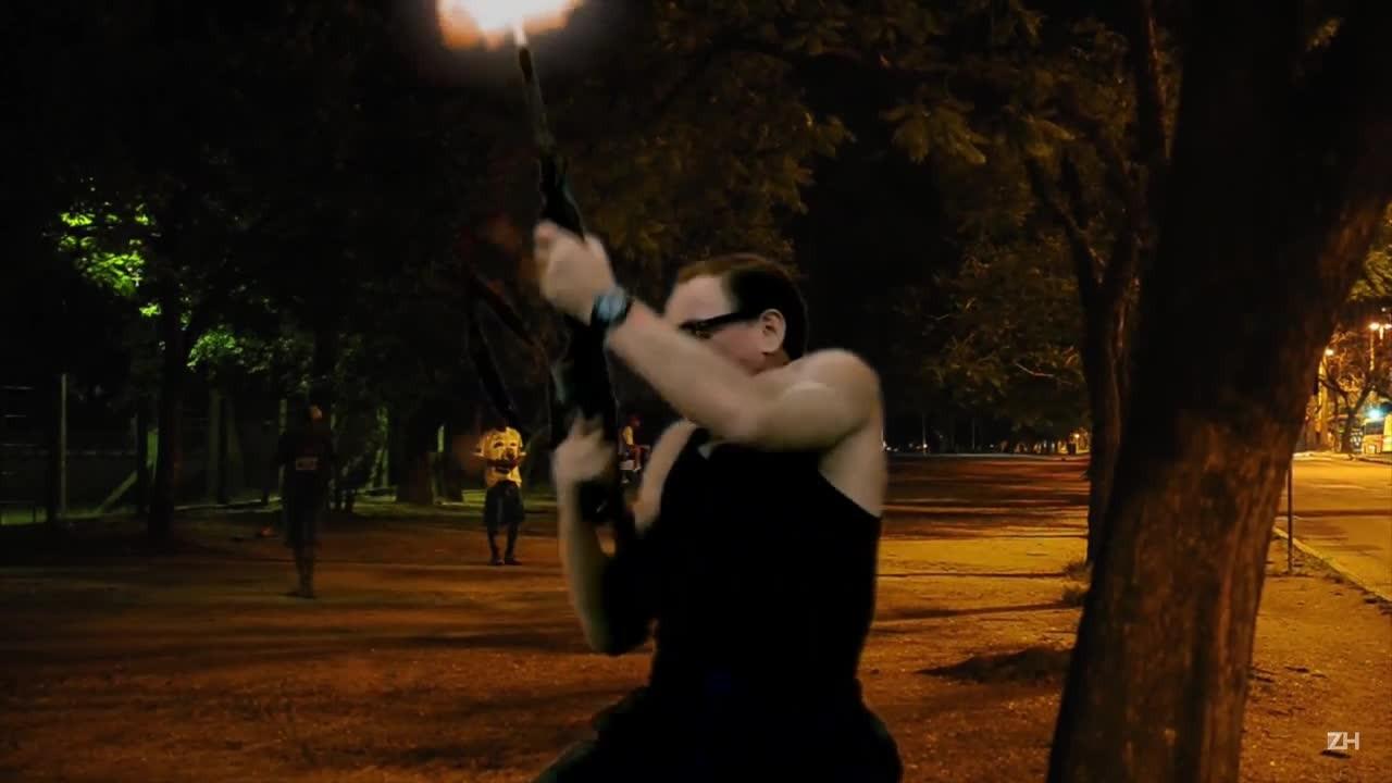 Van Damme na Redenção à noite