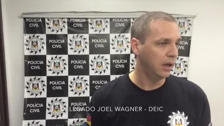 Delegado Joel Wagner comenta operação para prender assaltantes de banco no RS