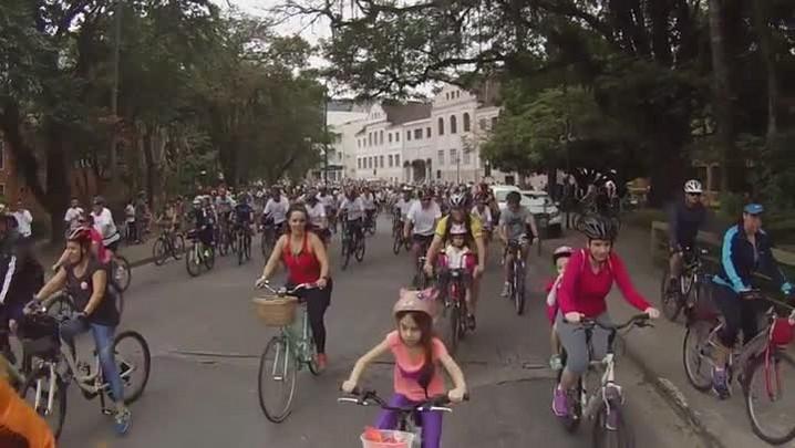 Passeio ciclístico Todos pela Bike (2/8/15)