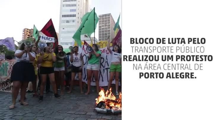 Bloco de Luta pelo Transporte Público realiza novo protesto na Capital
