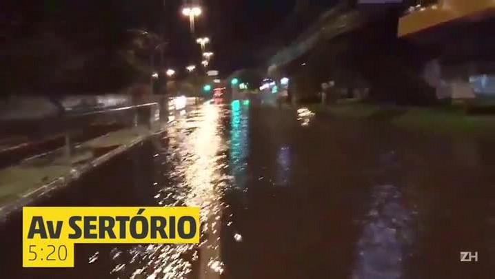 Porto Alegre amanhece debaixo d'água
