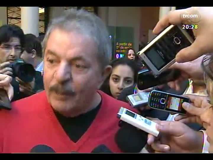 TVCOM 20 Horas - Visita do ex-presidente Lula no Falp, em Canoas - Bloco 3 - 13/06/2013