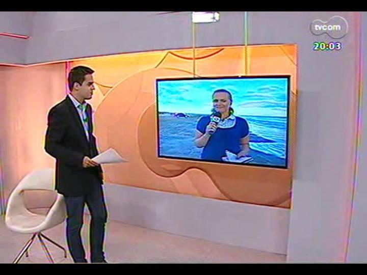 TVCOM 20 Horas - Informações sobre trânsito e clima na Praia do Cassino - Bloco 1 - 23/12/2013