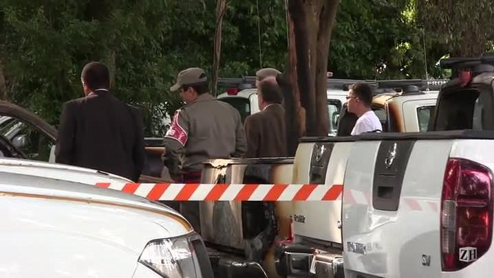 Secretário da Segurança Pública do Estado visita a Academia de Polícia que foi incendiada