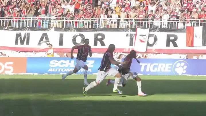 Confira o primeiro gol do JEC contra o Figueirense