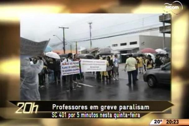 TVCOM 20 Horas - Professores em greve paralisam SC 401 por 5 minutos nesta quinta-feira - 23.04.15