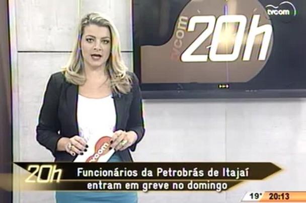 TVCOM 20 Horas - Funcionários da Petrobrás de Itajaí entram em greve no domingo - 30.04.15