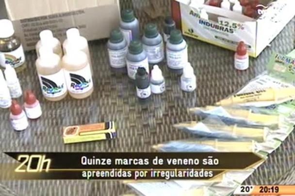 TVCOM 20 Horas - Quinze marcas de veneno são apreendidas por irregularidades em Joinville - 05.05.15