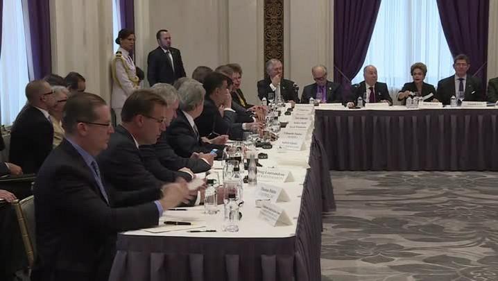 Dilma e Levy fazem reunião com empresários americanos