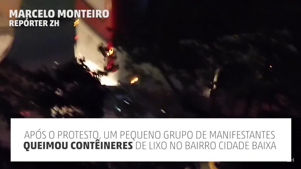 Manifestantes e BM entram em confronto após protesto em Porto Alegre