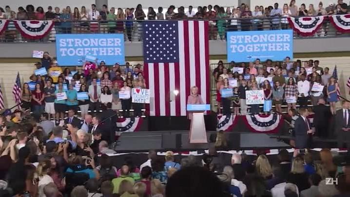 Hillary retoma campanha