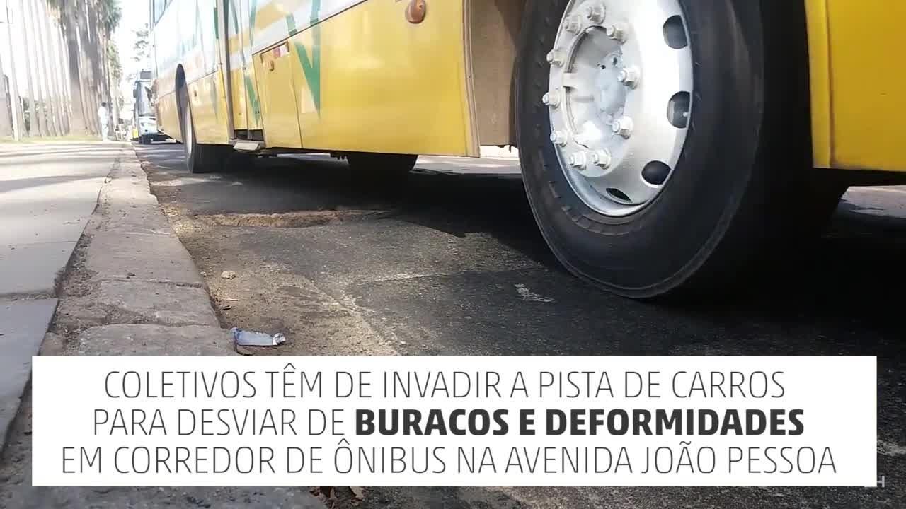 Buracos em asfalto prejudicam circulação de ônibus