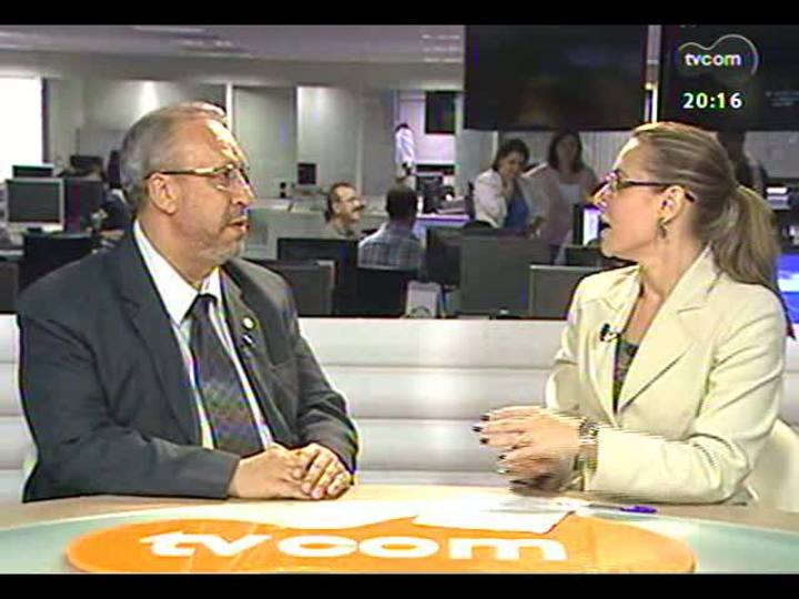TVCOM 20 Horas - Reunião para apresentar medidas de seguranças aos taxistas - Bloco 2 - 03/04/2013