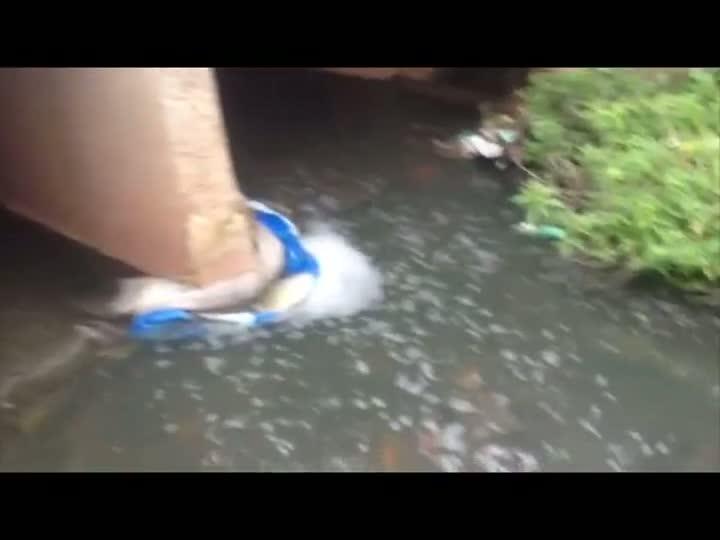 Prefeitura investiga origem de espuma presente em arroio de Cachoeirinha. 01/05/2013