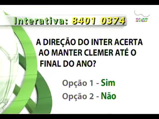 Bate Bola - O Inter acertou em manter Clemer? - Bloco 2 - 13/10/2013
