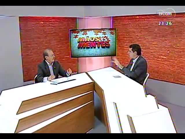 Mãos e Mentes - Aniversário de um ano: entrevista com o primeiro entrevistado do programa, governador Tarso Genro - Bloco 3 - 03/11/2013