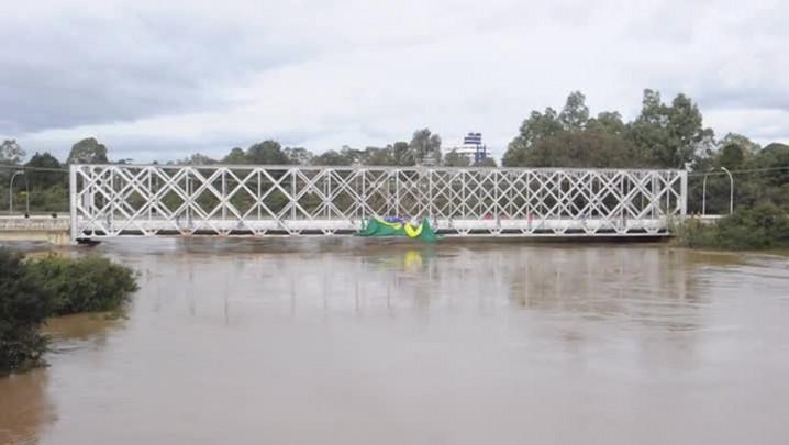 Imagens da cidade de Mafra após grande enchente