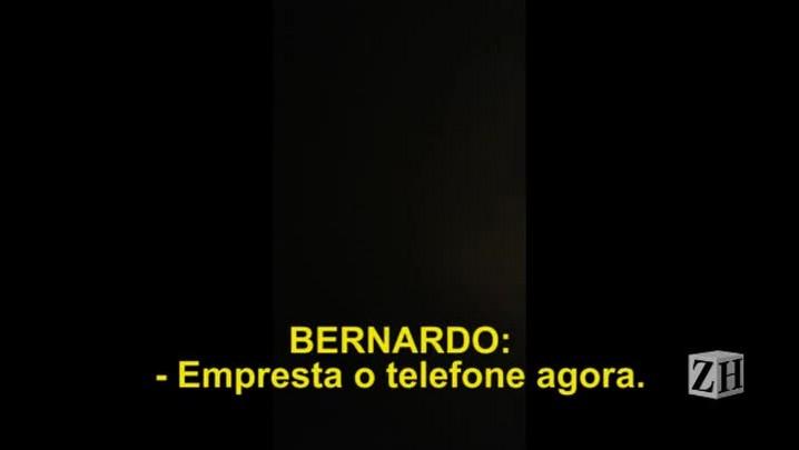 3. Bernardo diz que quer denunciar o pai e a madrasta
