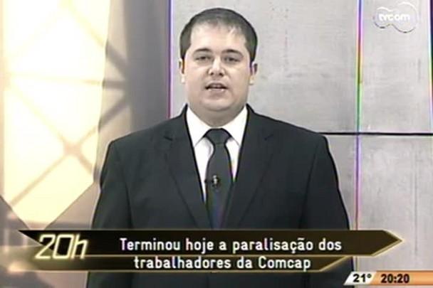 TVCOM 20h -Termina a paralisação dos trabalhadores da Comcap - 14.11.14