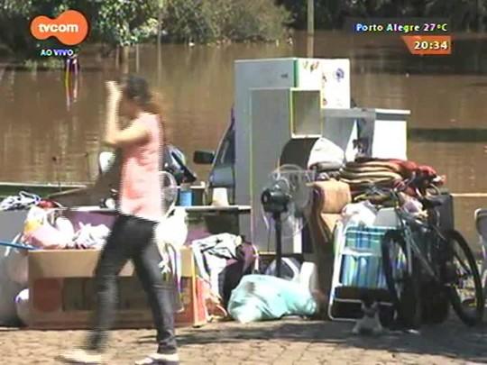 TVCOM 20 Horas - Cerca de 100 pessoas seguem foram de casa na Fronteira Oeste devido à cheia do Rio Uruguai - 05/01/2015