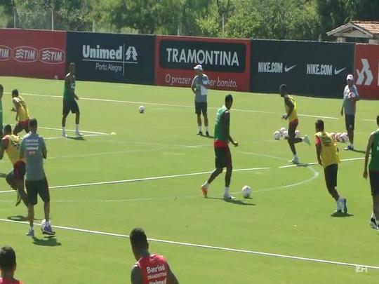 O treino tático de Diego Aguirre