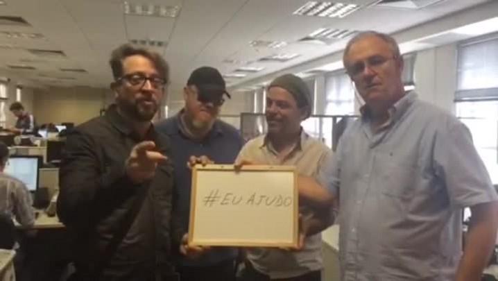 Banda Nenhum de Nós, Neto Fagundes e Macedo promovem a campanha #EuAjudo