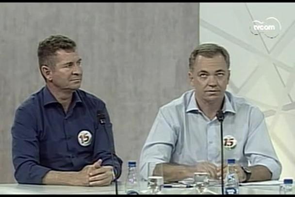 TVCOM Conversas Cruzadas - Entrevista com o candidato Gean Loureiro (PMDB) e o vice João Batista Nunes. - 1º Bloco.