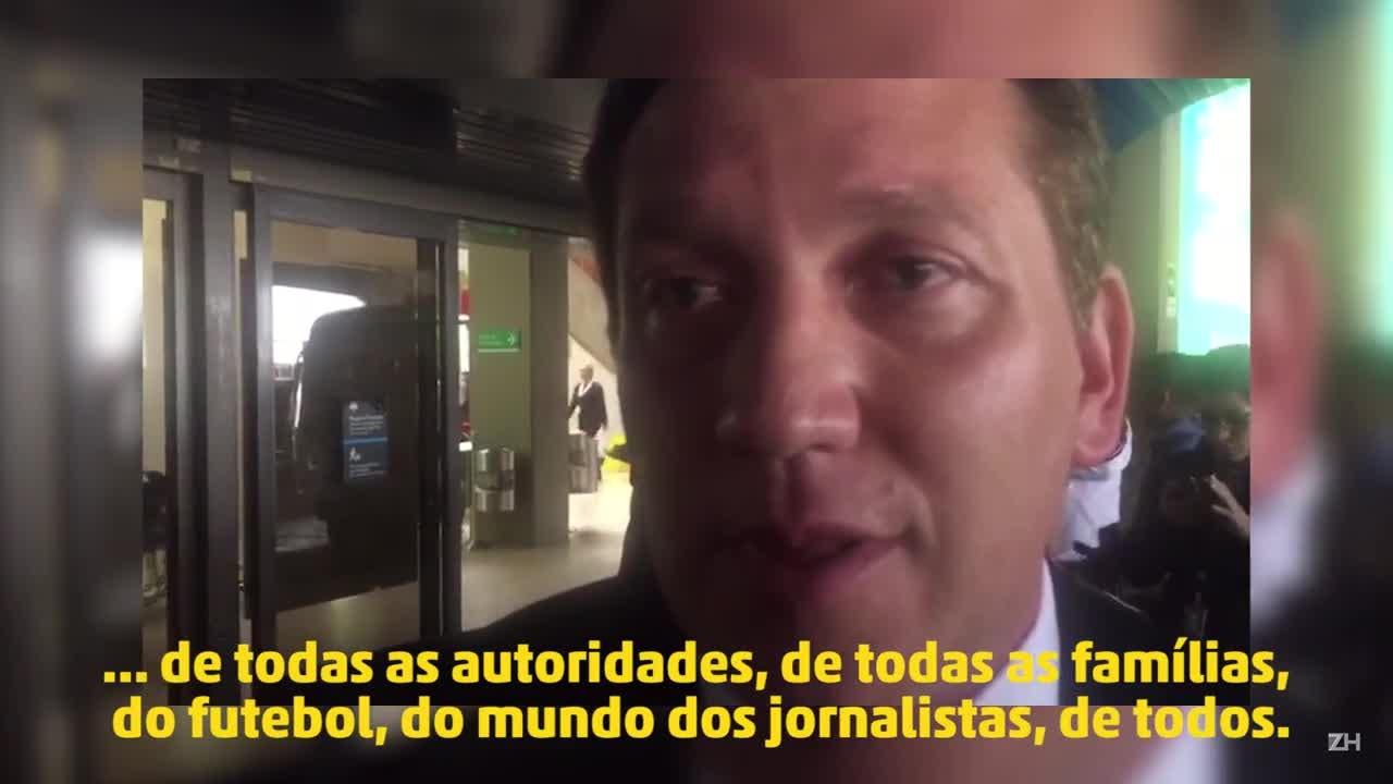 Presidente da Conmebol lamenta tragédia da Chapecoense