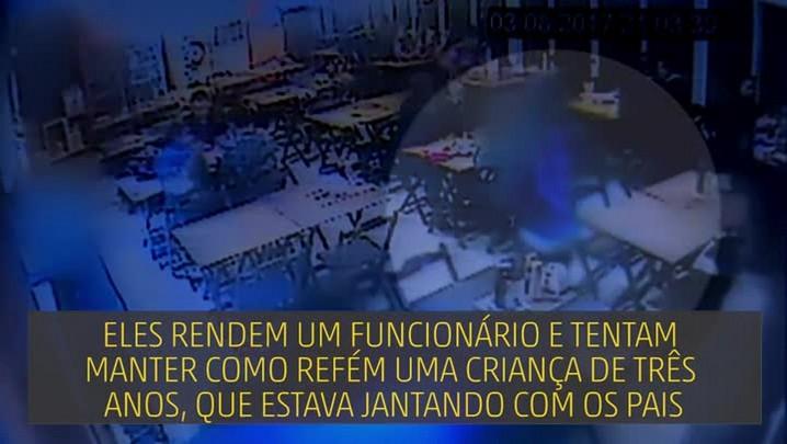 Câmara de segurança mostra assalto que terminou com um baleado em Porto Alegre