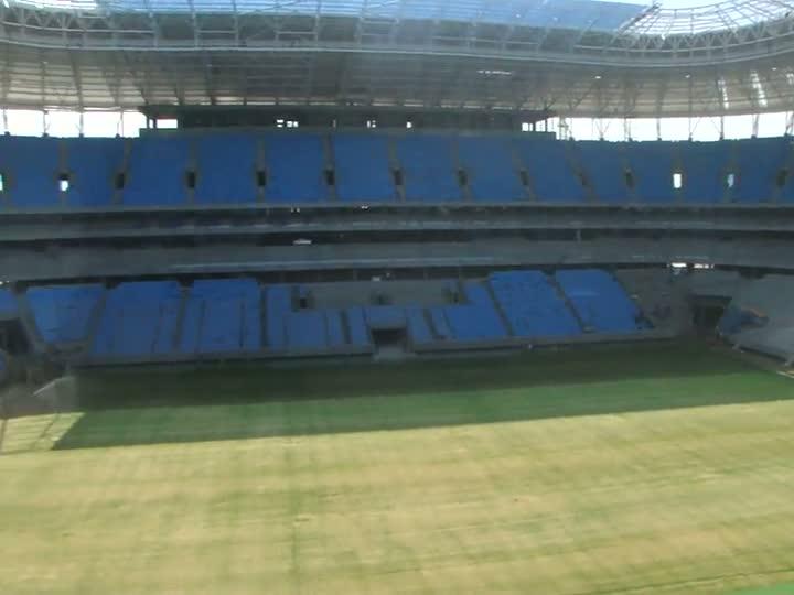 A visão dos camarotes da Arena do Grêmio