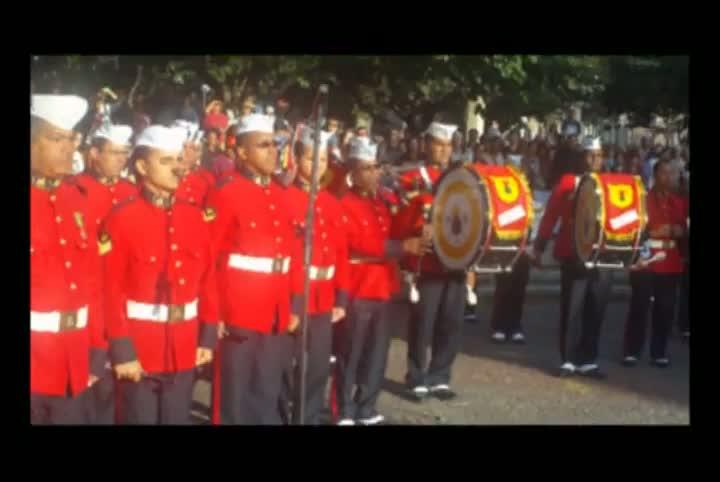 Banda Marcial dos Fuzileiros Navais emociona santa-marienses