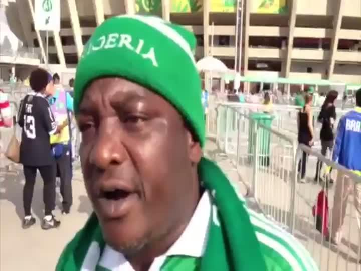 Torcedores da Nigéria e do Taiti em Belo Horizonte