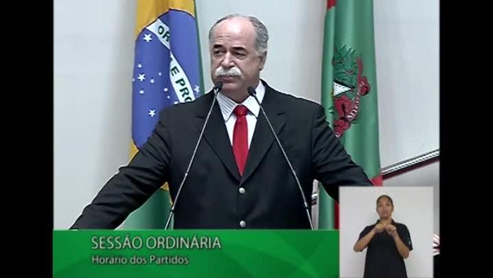 Resumo do discurso de Romildo Titon na Assembleia após afastamento