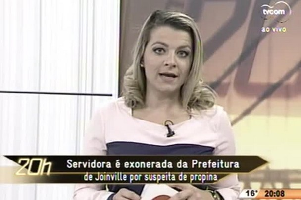 TVCOM 20 Horas - Servidora é exonerada da Prefeitura de Joinville por suspeita de propina - 18.06.15