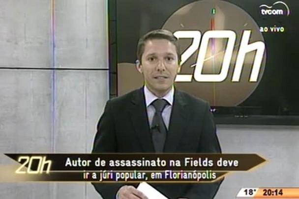 TVCOM 20 Horas - Autor de assassinato na Fields deve ir a júri popular, em Florianópolis - 08.07.15