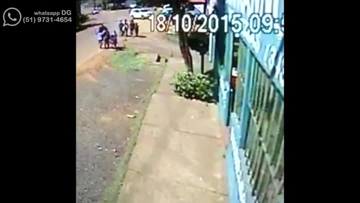 Vídeo mostra atropelamento em Gravataí