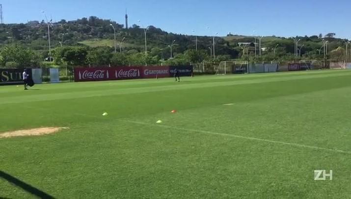 Inter treina para confronto com a Ponte Preta pelo Brasileirão