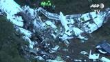 Imagens mostram destroços do avião da Chapecoense