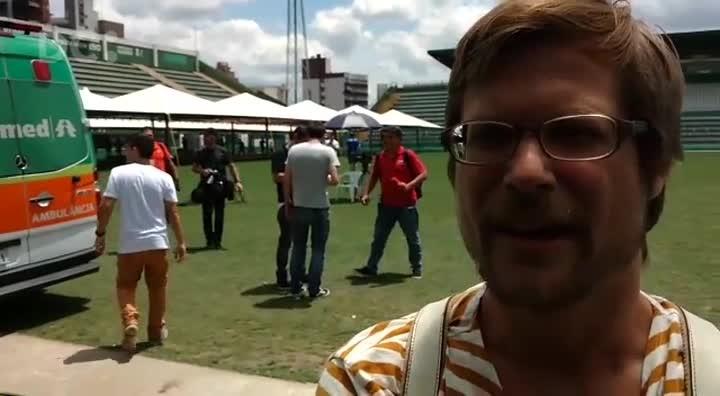 Jornalistas estrangeiros em Chapecó falam da repercussão da tragédia em seus países