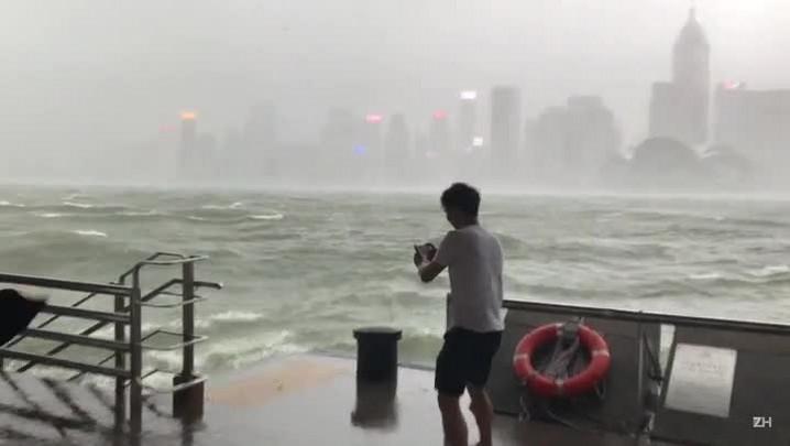 Tufão Hato em Hong Kong