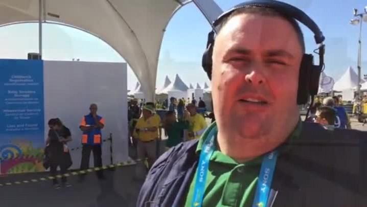 Torcida brasileira começa a lotar o estádio do Itaquerão