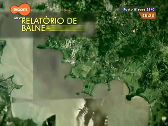 TVCOM 20 Horas - Teste de balneabilidade reprova praias do Lami e Belém Novo - 31/12/2014