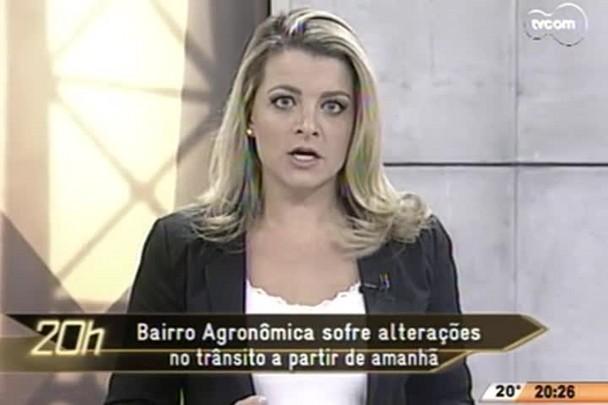 TVCOM 20 Horas - Bairro Agronômica sofre alterações no trânsito - 08.05.15