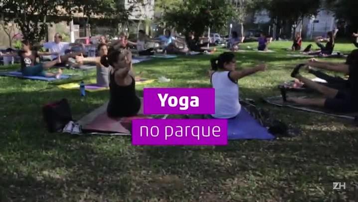 Yoga na praça da Encol